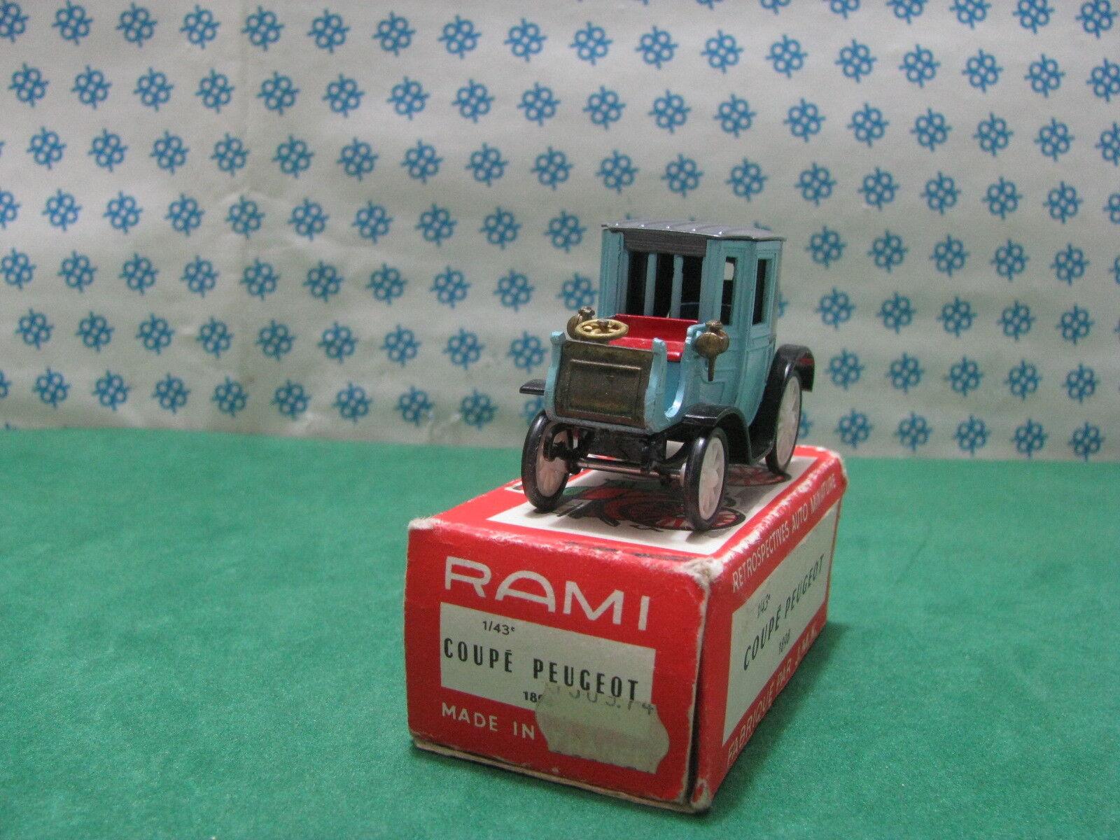 Vintage Rami - Peugeot Coupé 1898 - 1 43 France