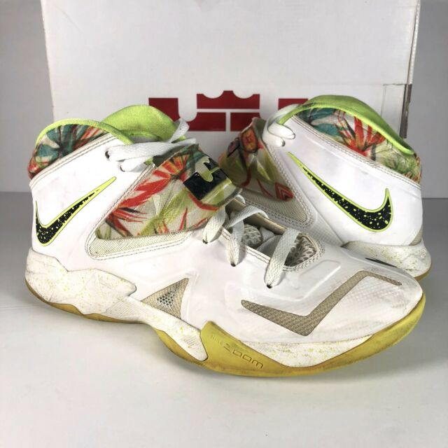 great fit 6de48 35856 NIKE LEBRON SOLDIER VII 7 Everglades Shoes 599264-103 White Black Volt Sz  8.5
