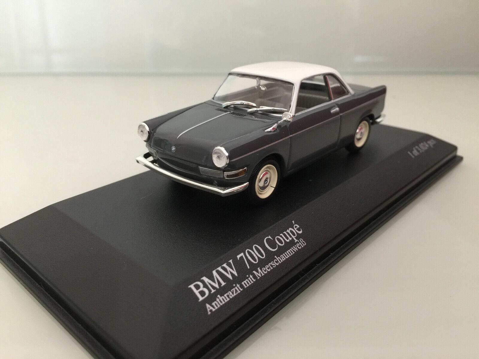 1 43 Minichamps BMW 700 Coupe , 1960 1960 1960 , Anthrazit Meerschaumwhite 3b8