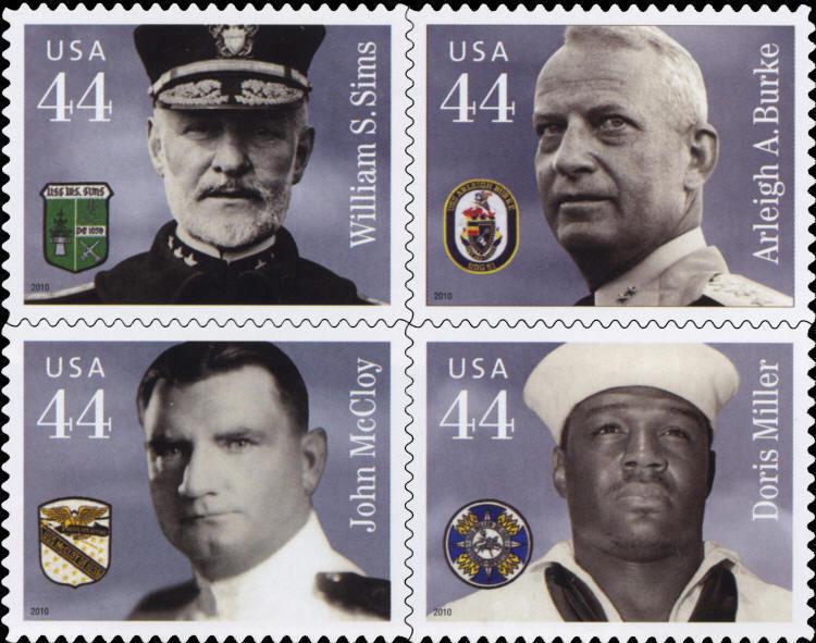 2010 44c Distinguished Sailors, Block of 4 Scott 4440-4