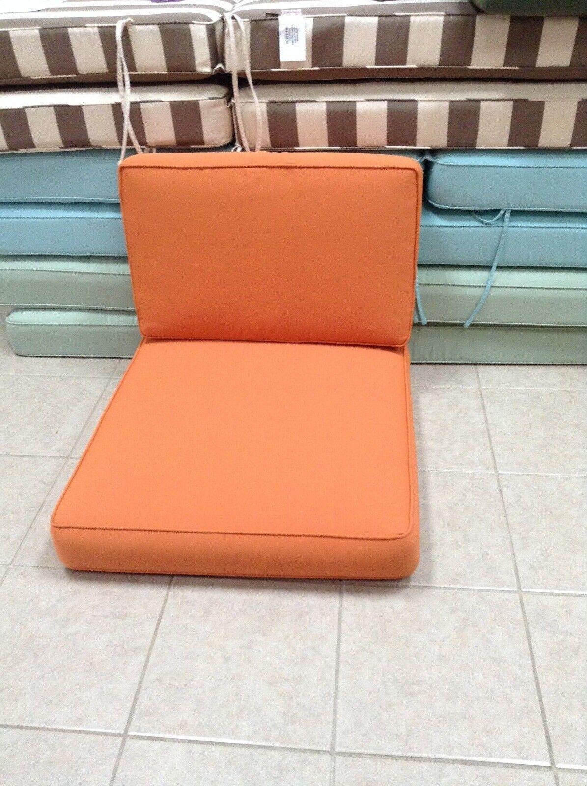 Pottery barn seccional Univs silla sin brazo Sunbrella Cojín Toscano Naranja 27x30