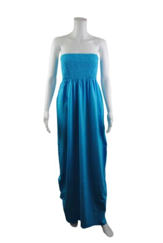 Womens Terranova Strapless Tube Top Long Maxi Dress Tunic Size 8 to 14 Ladies