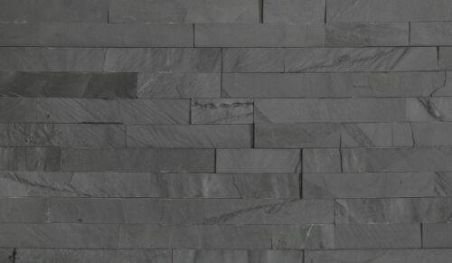 Wahl 37,50 €//m² Hoppe Wandverblender 15x60cm schwarz matt Naturstein Schiefer 1