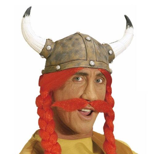 Obelix Bart rot  Klebebart Anklebebart Oberlippenbart Bart Kunstbart zum Kostüm