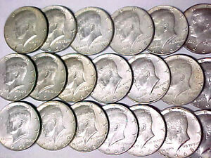 Lot-of-20-Kennedy-40-Silver-Half-Dollars-1965-1969-10-Face-Value-1031