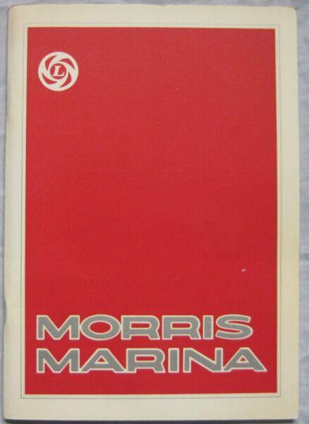 1975 Morris Marina Owner's Handbook Pub, No. Akm 3444