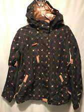 639d126b3b 686 Womens Medium Smarty Snowboard Ski Winter Jacket Black Tan Print TS8
