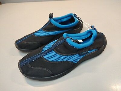 Fins, Footwear & Gloves Well-Educated Athletech Shower Water Beach Shoes Men's Size 8 Black/blue 20168 Nemo New Perfect In Workmanship Water Shoes