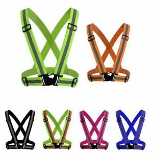 Outdoor Running Night Sports Cycling Reflective Back Straps Safety Warning Band
