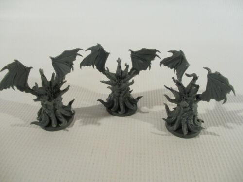 DEEP MADNESS Lot of 3 IMMORTAL Cthulhu Mythos Horror Miniature Figures!!