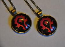 World of Warcraft Set 2 x HORDE Kette Anhänger pendant necklace Halskette WoW