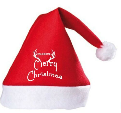 Joyeux noël colchester united fan santa hat
