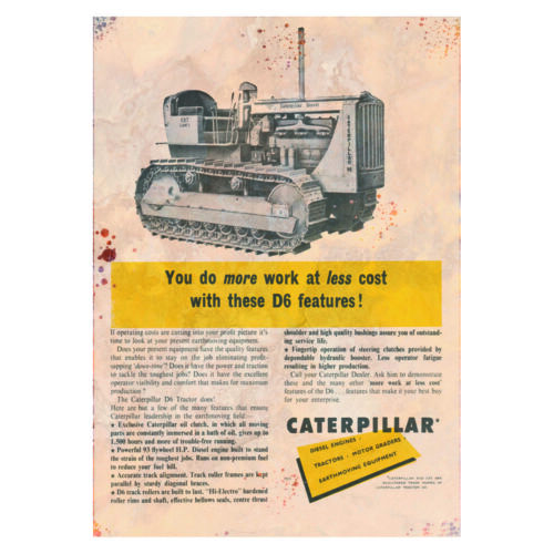 Caterpillar Cat Advertising Vintage Garage Sign Shed Workshop Classic Metal