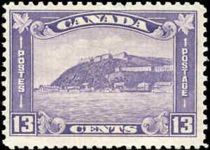1932-Mint-H-Canada-F-Scott-201-13c-King-George-V-Medallion-Stamp