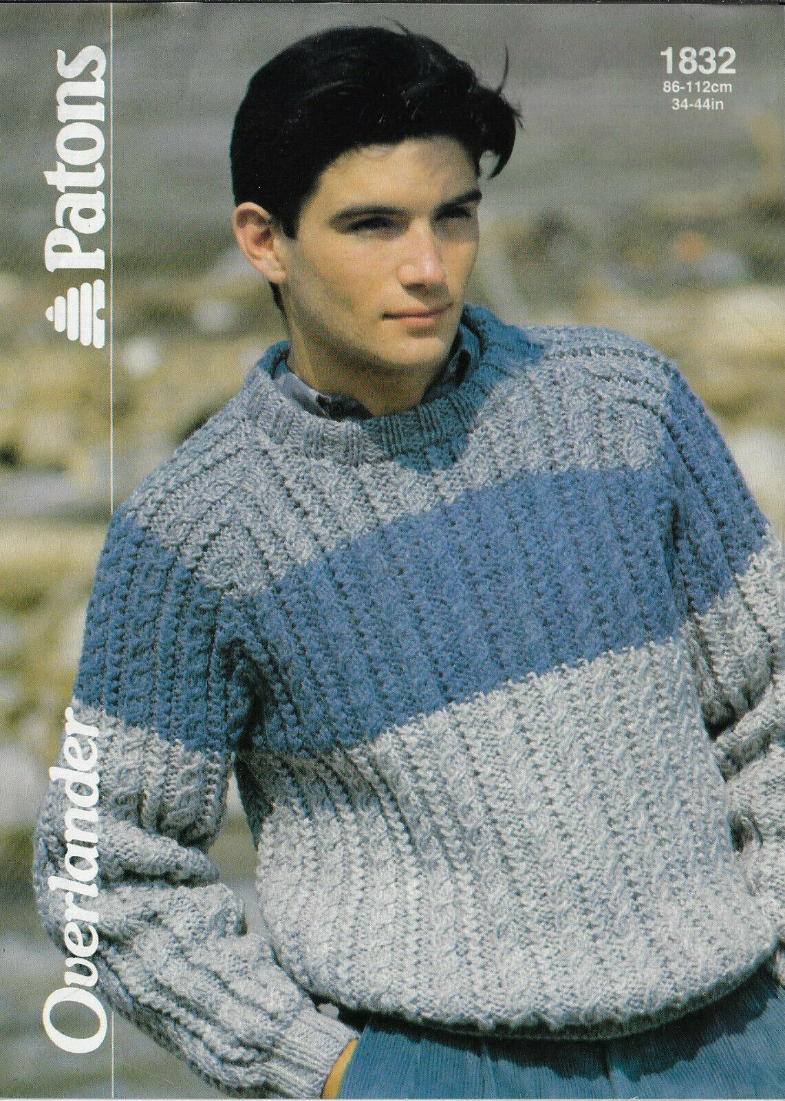 Patons Chunky Knitting  Pattern  4049 Mens Sweater  Jumper Size  Size 34// 44/""