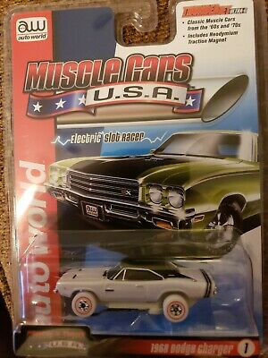 AUTO WORLD SC349 THUNDER JET ULTRA+G MUSCLE CARS USA 1968 DODGE CHARGER WHITE