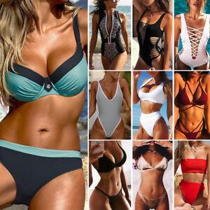cab034246d2d9 2018 Triangle Bikini Womens High Waisted Push up Swimsuit Swimwear ...