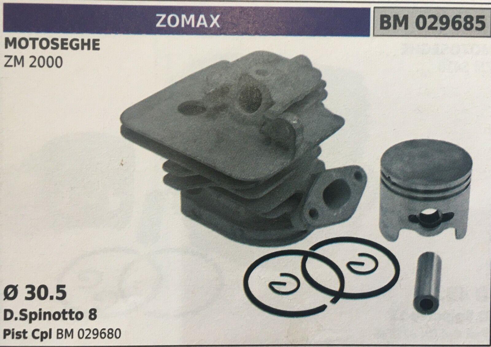 Cilindro Completo por Pistón y Segmentos Brumar BM029685 Motosierra Zomax