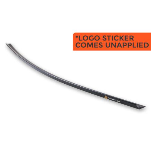 # Unpainted Fyralip Trunk Lip Spoiler For Audi A5 S5 B8 8T3 8F7 Coupe Black