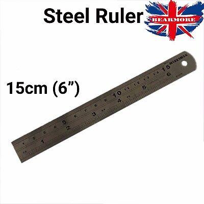 30cm Stainless Steel Ruler Metal Rule Metric Imperial Engineering Conversion