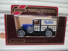 Lesney Base Matchbox Models of Yesteryear Rare Y21 Carters Seeds Ford WoodyWagon
