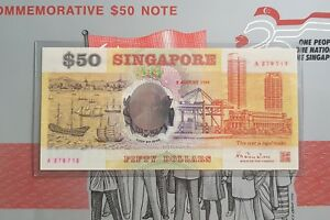 Singapore-50-Polymer-Commemorative-Banknote-A-279713-With-Folder-UNC