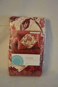 Martha-Stewart-Collection-SOMERSET-SQUARE-Standard-Pillow-Sham-Red-Cream