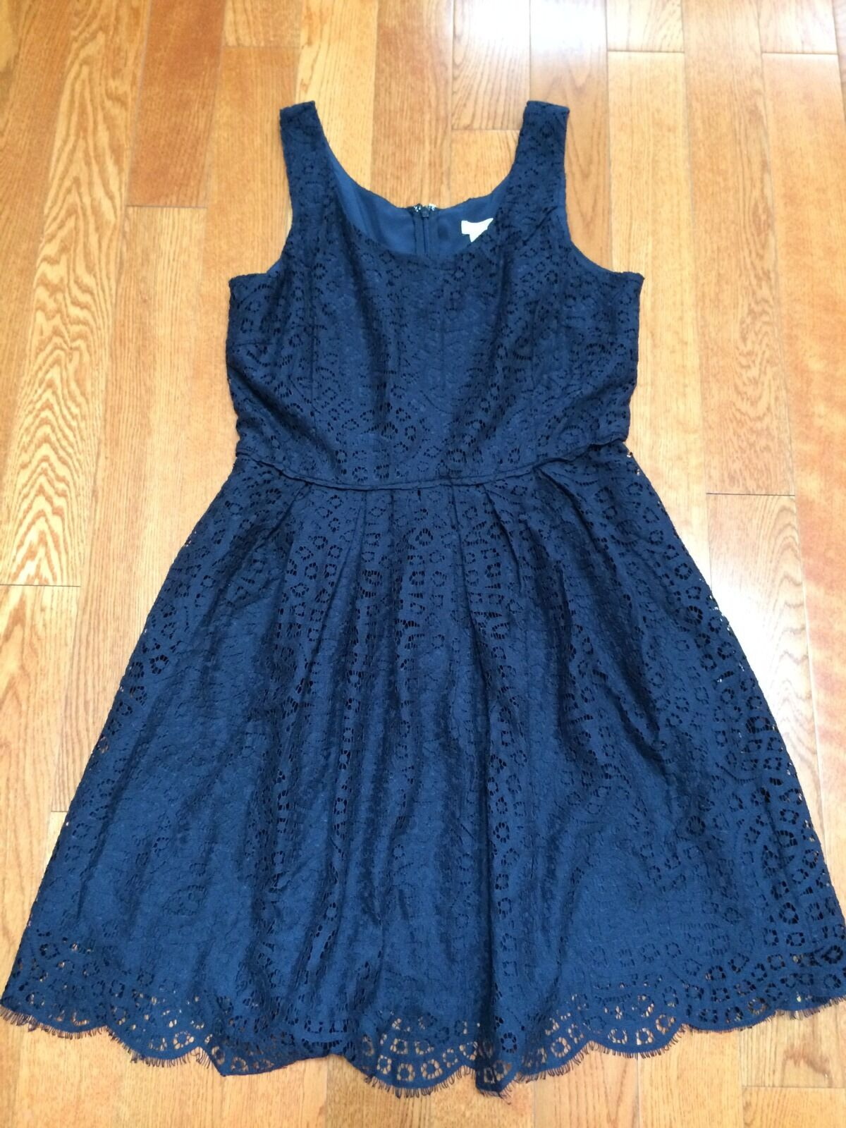 NWT J Crew Swirling Lace Dress Navy Size 6