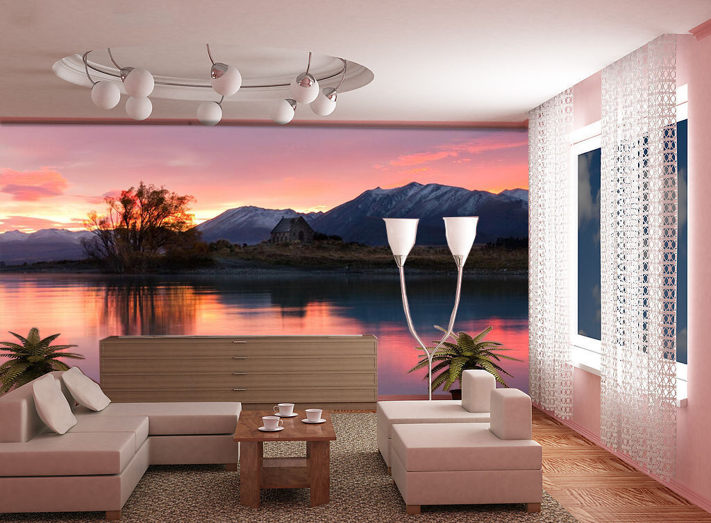 3D Lakeside Scenery 77 WallPaper Murals Wall Print Decal Wall Deco AJ WALLPAPER