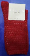 Falke Womens Cashmere Wool Socks UK 2.5-5 Micro Dot Red Calf Length RRP£16 Calf