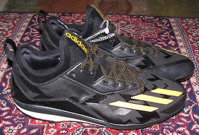 cd369b399a7 Adidas Energy Boost Icon 2 Metal Baseball Cleats Black Yellow SZ 13 Q16523