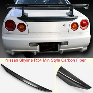 For Nissan Skyline R34 GTR GTT Min Style Carbon Fiber Rear