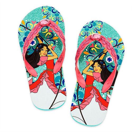 ELENA of AVALOR DISNEY PRINCESS Flip Flops Beach Sandals NWT Toddler/'s Size 7-8