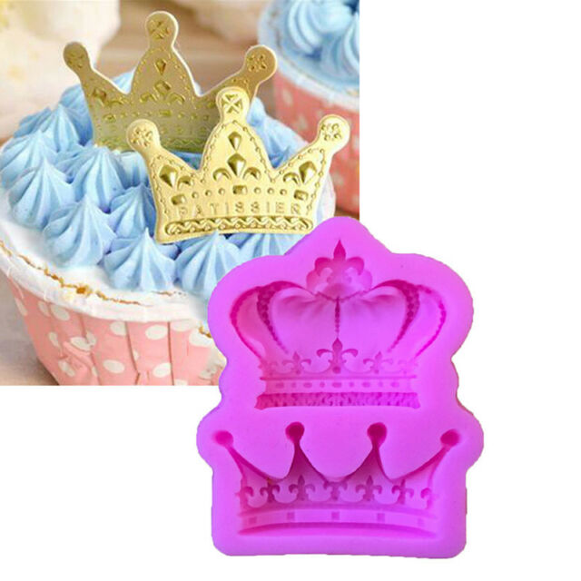 Crown from Princess Queen 3D Silicone Mold Fondant Cake Cupcake Decorating Tool,