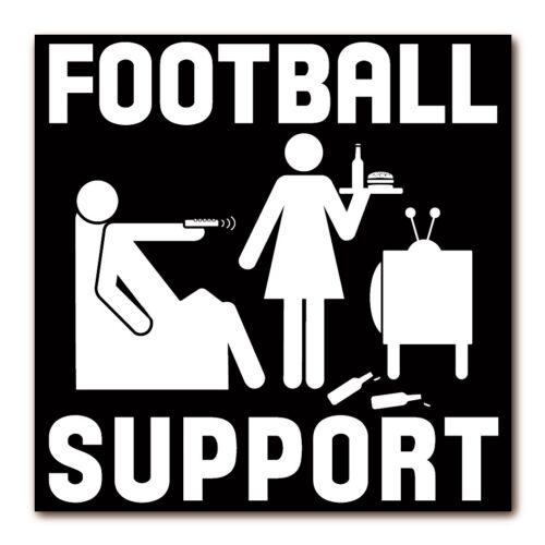 Kühlschrankmagnet Mann /& Frau LOGOSHIRT Fun Football Support Magnet