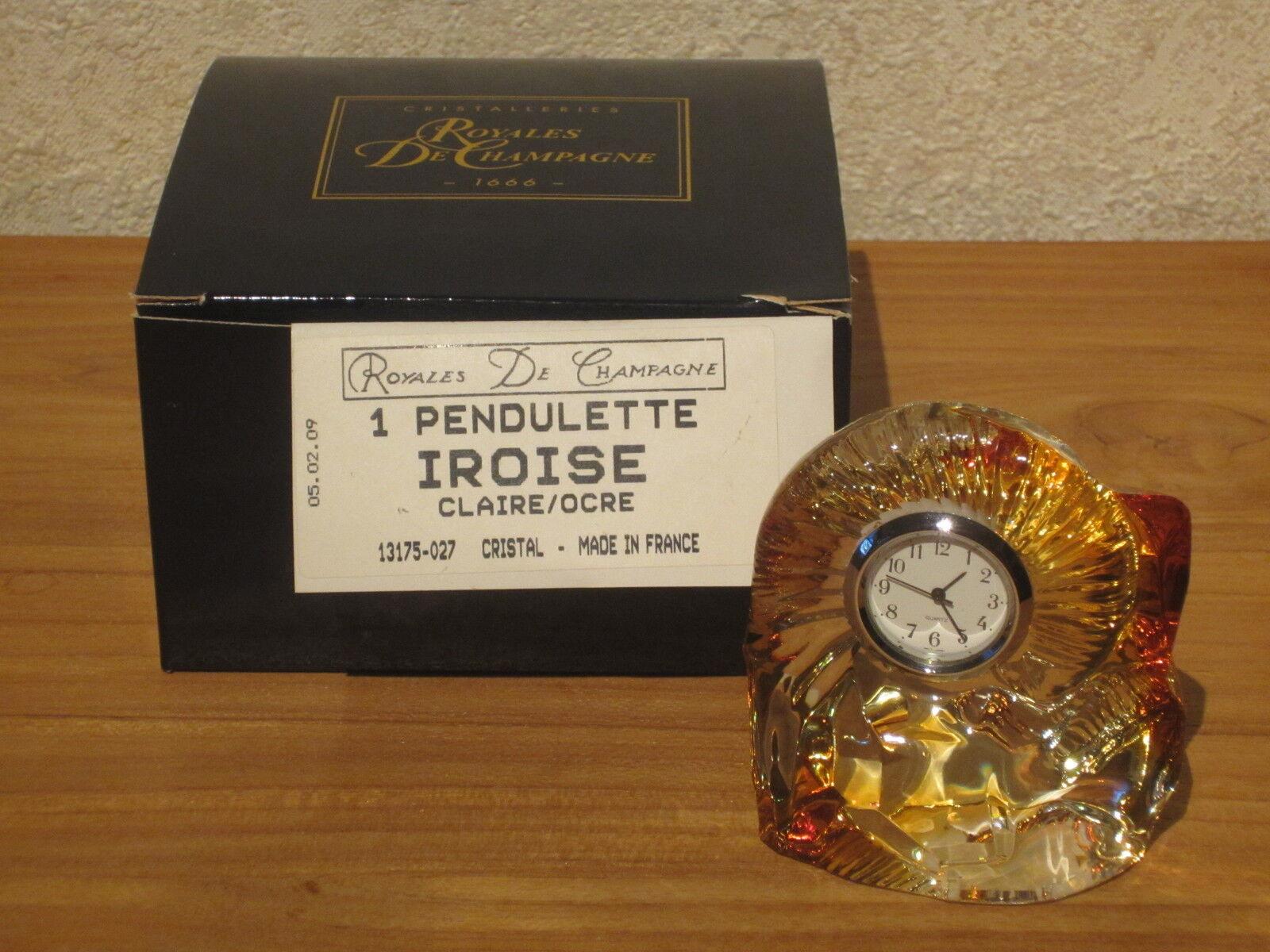 CRIST. ROYALES DE CHAMPAGNE NEW Pendulette ocre H.8cm L.7cm