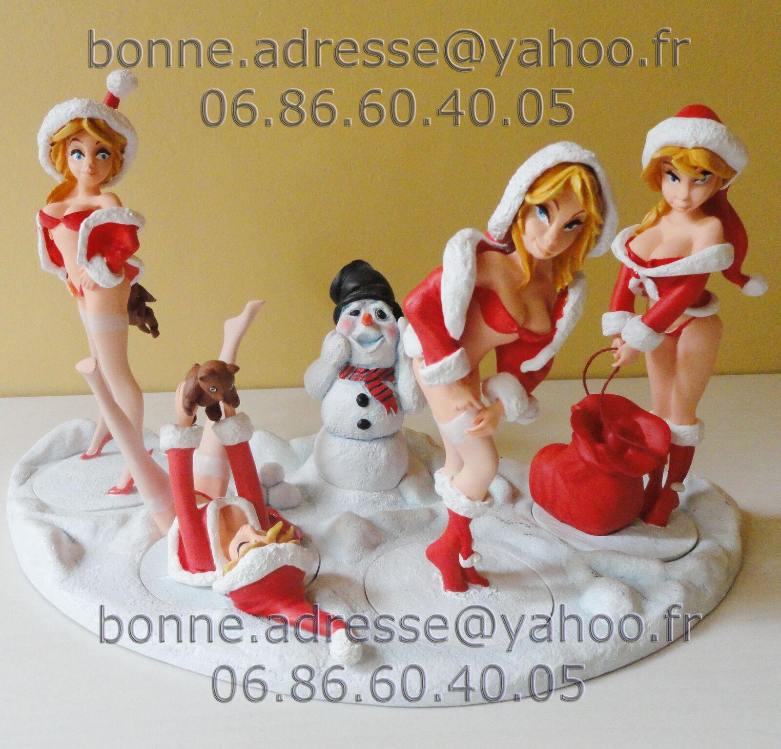 4 Figurines Statuette Sexy Cadeau Noël PIN UP K3D de COLLECTION LIMITÉE