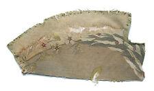 "Antique Aubusson Tapestry Fragment - Silk & Cotton - 14"" x 7"" - 19th Century"