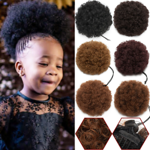 Afro-Puff-Drawstring-Ponytail-Kinky-Curly-Synthetic-Hair-Chignon-Bun-Extension