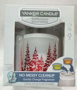 Yankee-Candle-Scenterpiece-Warmer-WINTER-TREES-Melt-Cup-Timer-Red-Forest-White