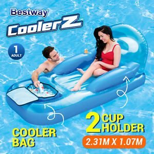Image Is Loading New Bestway Inflatable Floating Lounge Chair Pool Beach
