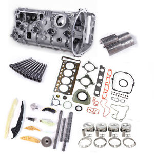 For VW Golf Jetta Audi A5 Engine Gasket&Timing&Piston Ring&Cylinder Head &Valve