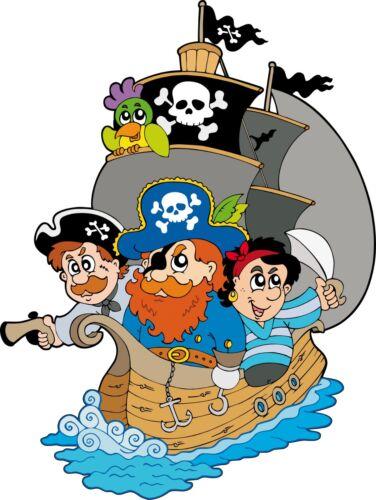 Sticker enfant Bateau et Pirates hauteur 100cm