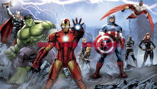 Avengers Superheros Birthday Party Edible Cake Topper 1//4 FROSTING sheet