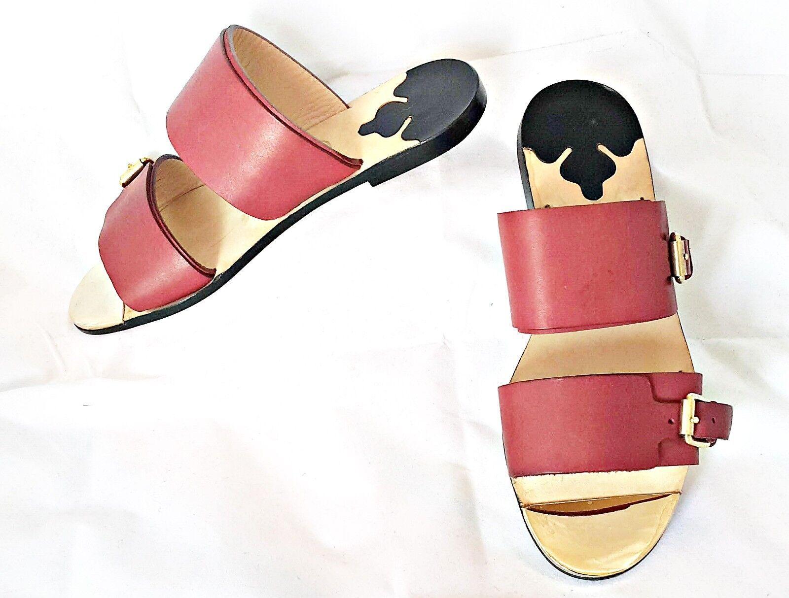 Vintage Auténtico Malene Birger Cuero para Mujeres Zapatos Sandalias Sandalias Sandalias  nos EU 5.5; 36.5  mejor calidad