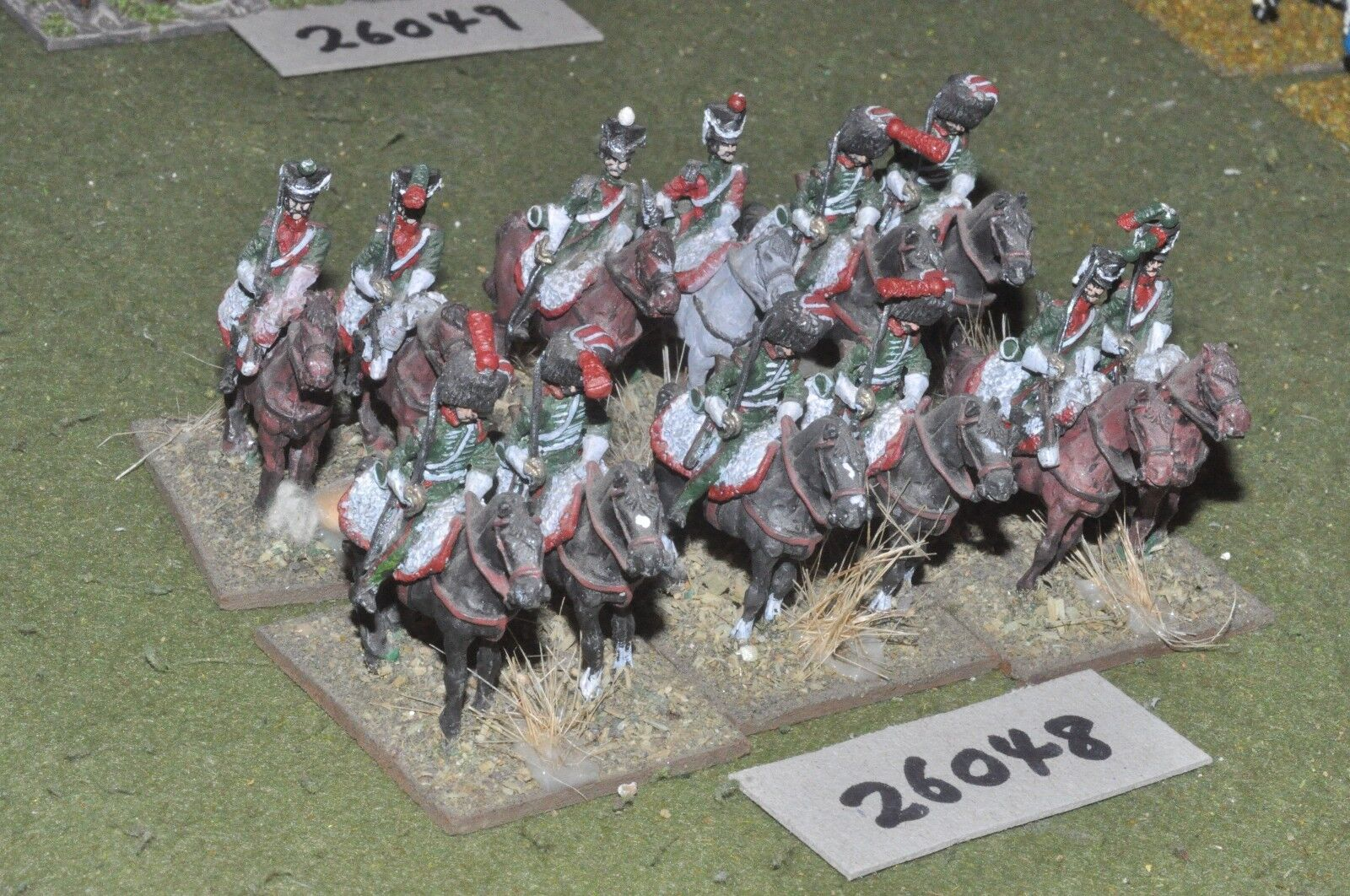 25mm napoleonic   french - chasseur a cheval 12 figures - cav (26048)