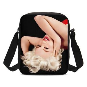 Sexy-Marilyn-Monroe-S-NOIR-MESSENGER-cross-corps-sac-a-main-cartable-epaule-sac