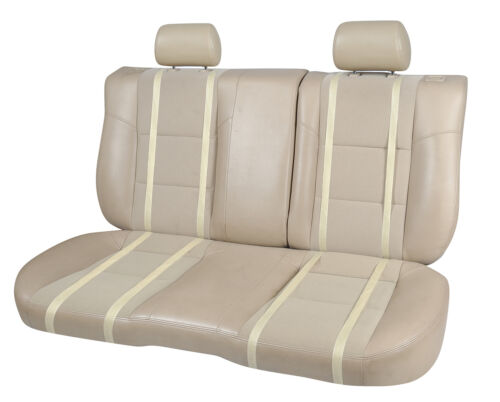 Non-Slip Cushion PU Leather Car Rear Seat Covers for Lexus 2095 Tan