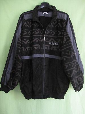 VESTE ADIDAS VELOUR Noire Vintage Jacket 90'S Tracksuits