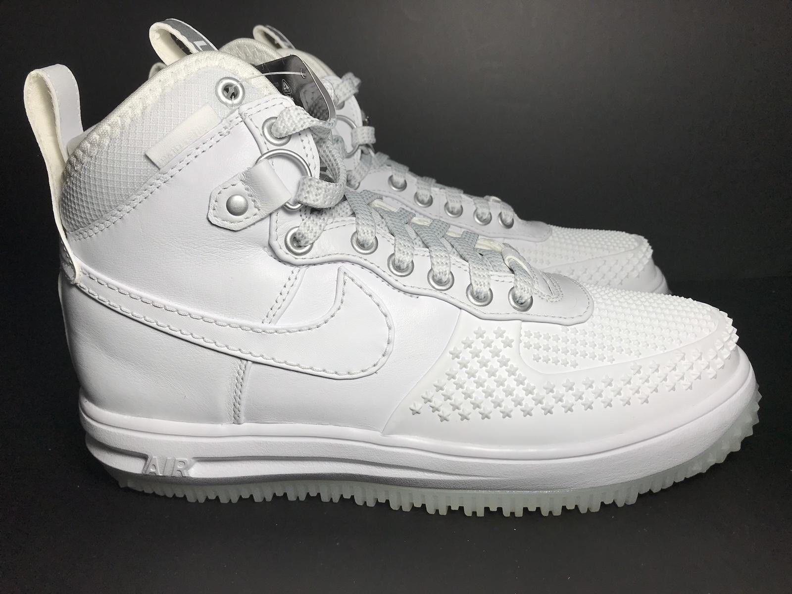 best website aa700 57040 Nike Lunar Force 1 Duckboot - White White White White 805899 101- Men s  Size 7